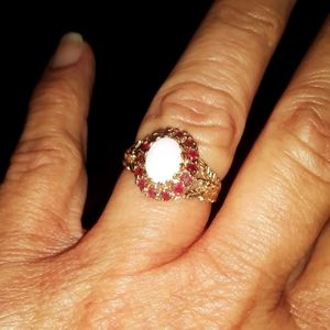 Opal and Gems Ring